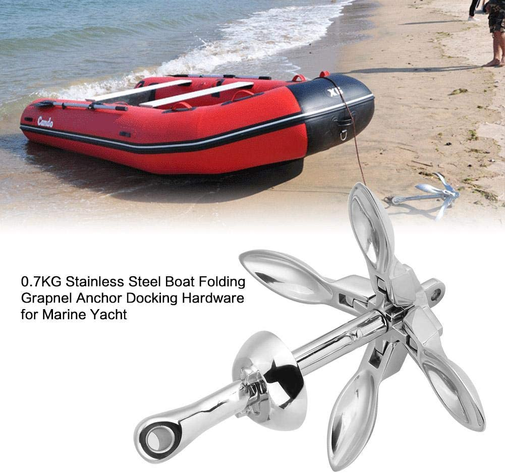 Hot Sale S.S 316 Boat Folding Grapnel Anchor 0.7KG For Marine Grade