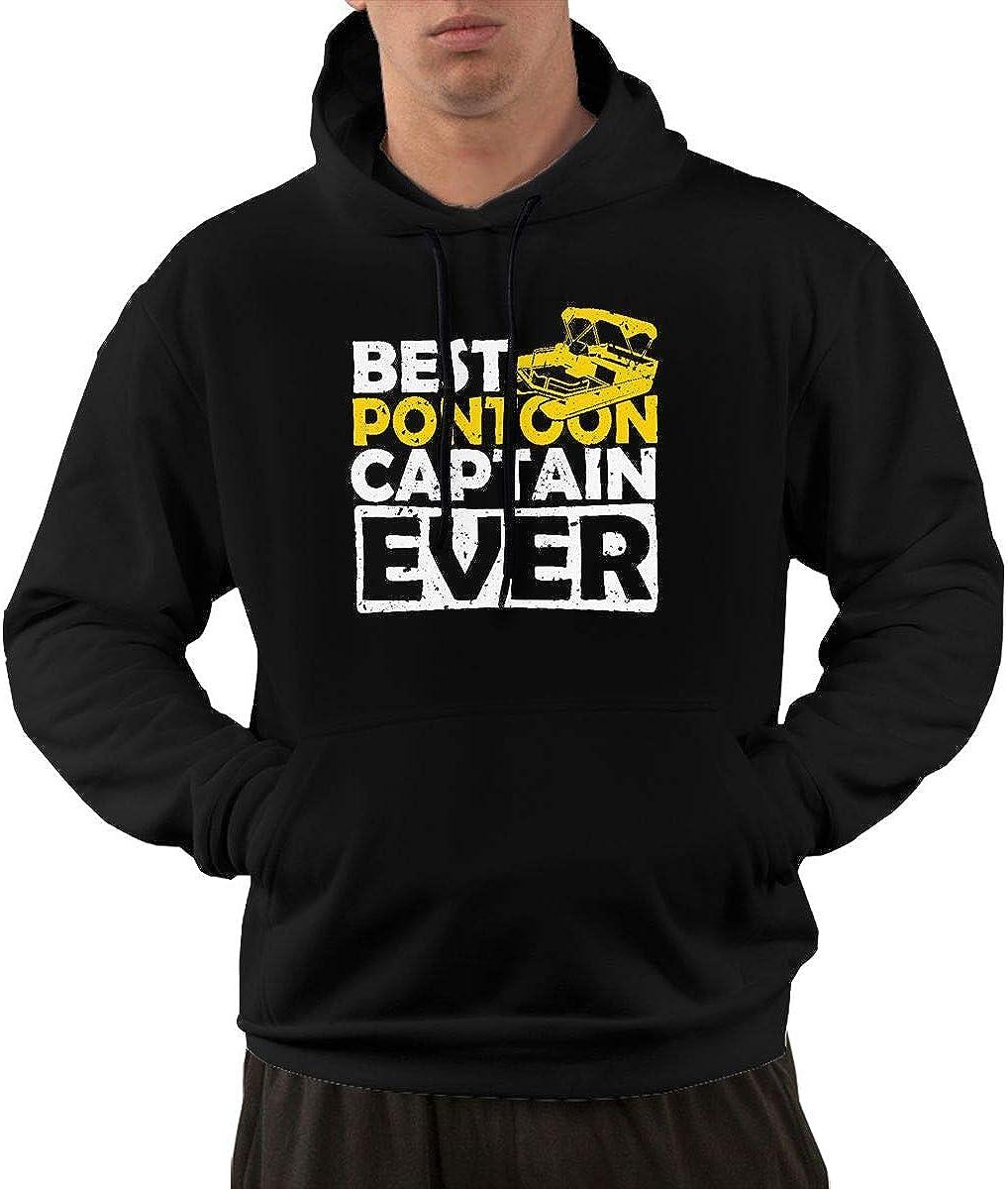 Best Pontoon Captain Ever Pullover Hoodie Sweatshirt Mens Training Bodybuilding Running Hooded Sweatshirt