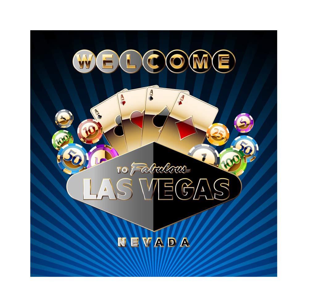 OERJU 2,5x2,5m Casino Fondo Bienvenido a Fabulous Las Vegas ...