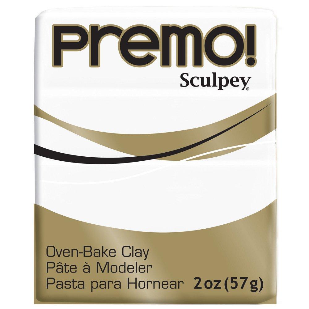 Premo Sculpey Polymer Clay 2 Ounces-White (PE02 5001)
