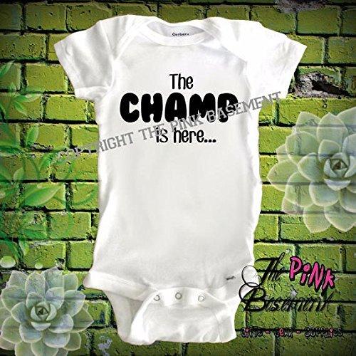 HANDMADE Babies The champ ishere wrestling Onesies Name Personalized Custom Boys Girls Baby Clothes Clothing Unisex Newborn Infant Onesie Gift Shower