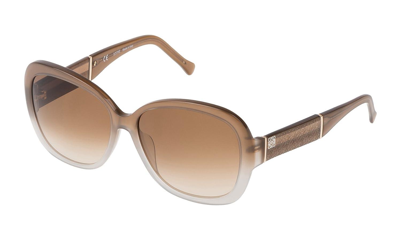 Loewe SLW937M580WTQ, Gafas de Sol para Mujer, Shiny Milky Brown/Beige, 58
