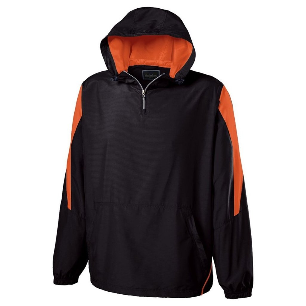 Holloway Youth Commence Swif-Tec Pullover (Large, Black/Orange) by Holloway