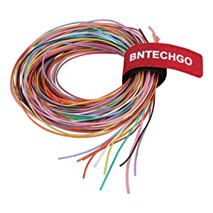 BNTECHGO 30 Gauge Silicone Wire Kit 10 Color Each 10 ft Flexible 30 AWG Stranded Tinned Copper Wire