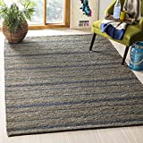 Safavieh Organica Collection ORG115A Hand-Knotted Blue Wool Area Rug (6' x 9')