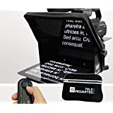 TeleprompterPAD iLight Pro 10'' Compatible con iPad/Android - 100x100 Aluminio. Robusto (No plástico endeble). Portátil…
