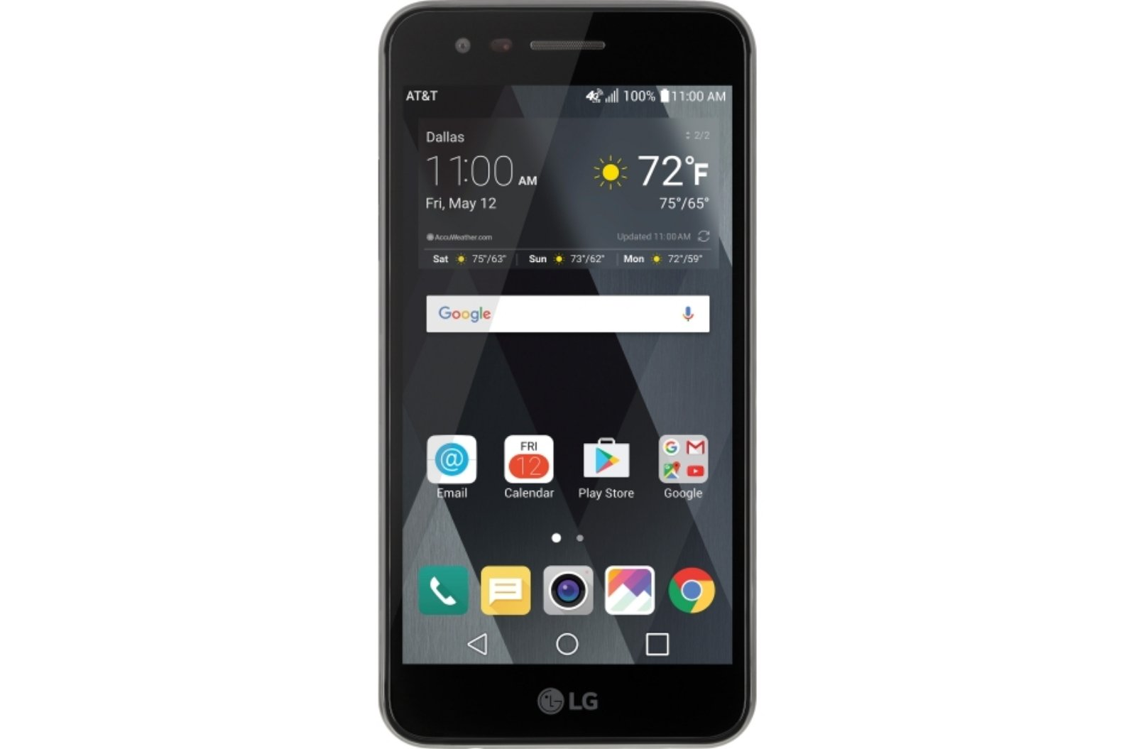 AT&T GoPhone LG Phoenix 3 4G LTE with 16GB Memory Prepaid Cell Phone - Black