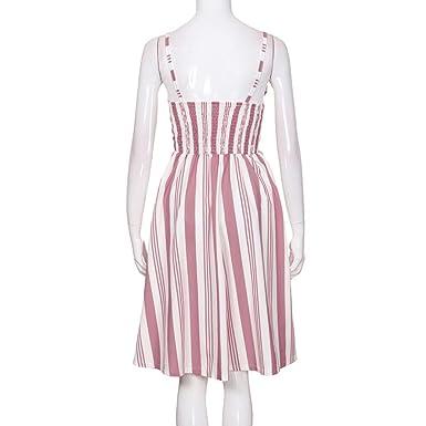 SANFASHION Bekleidung Vestido - para Mujer Rosa2 Large: Amazon.es: Ropa y accesorios