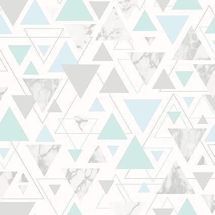 Chantilly Geometrico Marmo Triangolo Sfondo Blu Petroliogrigio