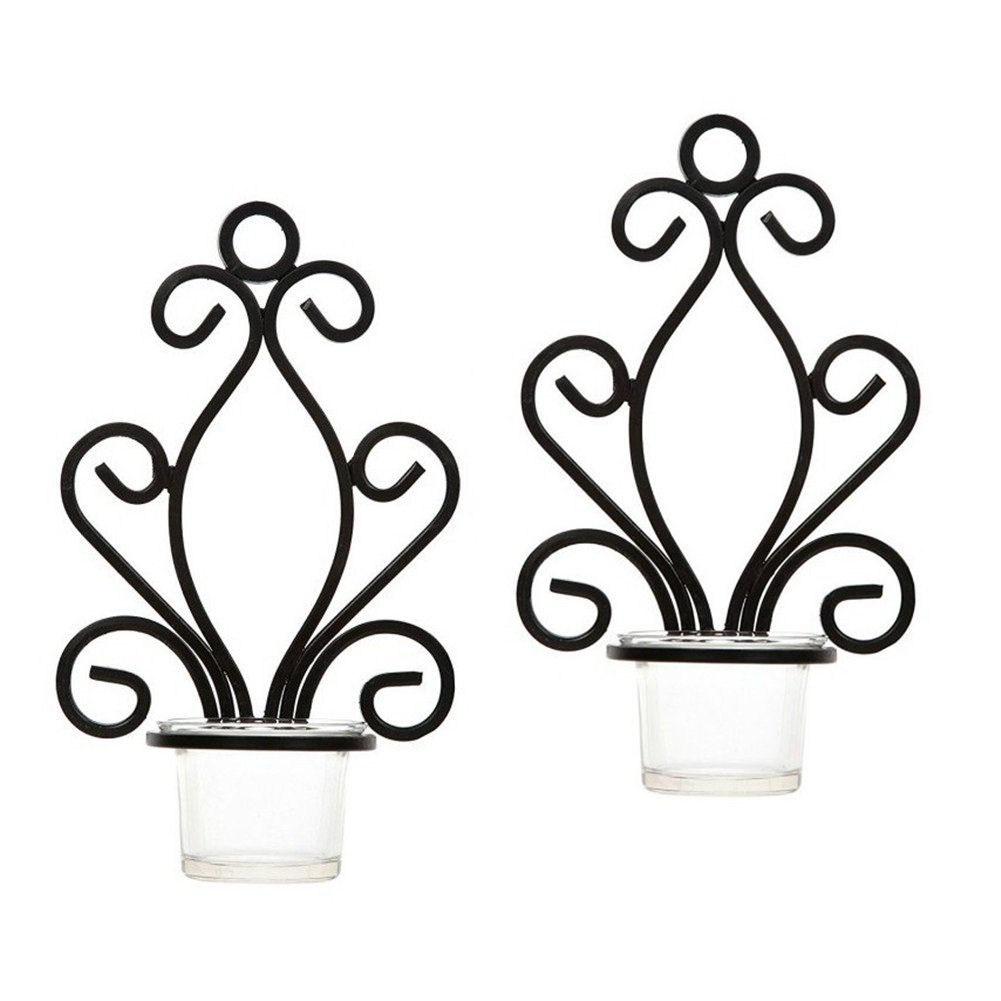Iron Candle Holder Wall Art Candle Hanging Candle Holder Home Decoration Tealight Candle Stand (Candle holder 1#) zhejian