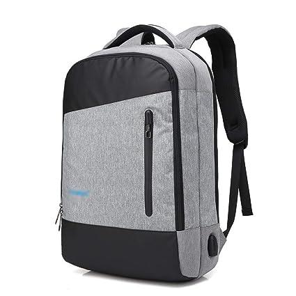DESESHENME Design Men Laptop Mochilas Antirrobo Viajes Stundet Mochilas Escolares Mochila Male Daypack, Gris