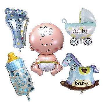 Amazon.com: 5 globos de fiesta de bebé, globos de aluminio ...