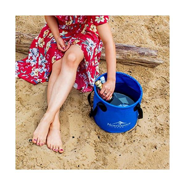 6176cR88m3L Falteimer Faltschüssel Spülschüssel   Camping Angeln Garten Party   Einsetzbar als Faltbare Wasch-Schüssel…