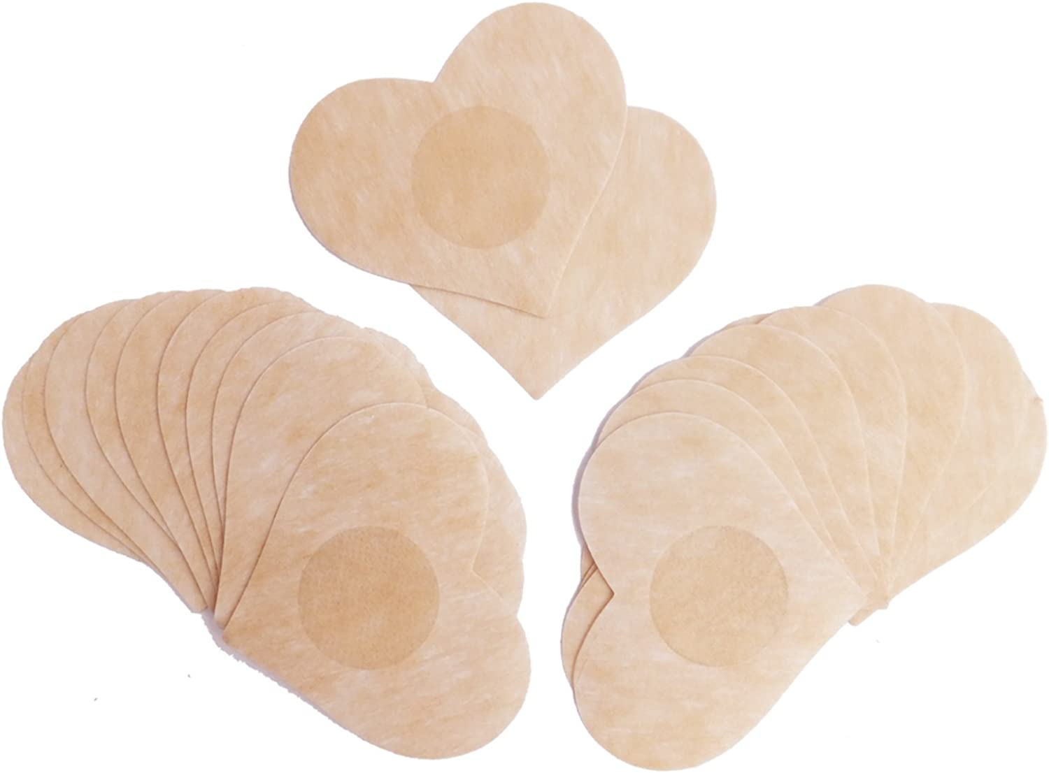 20 Pairs, Heart Shape DoHope Disposable Nipple Covers Non Woven Adhesive No Show Breast Petal Pasties