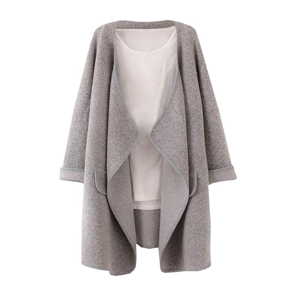 Palarn Clearance Clothes, Women Ladies Casual Long Sleeve Irregular Hem Lapel Open Front Loose Coat Tops GY