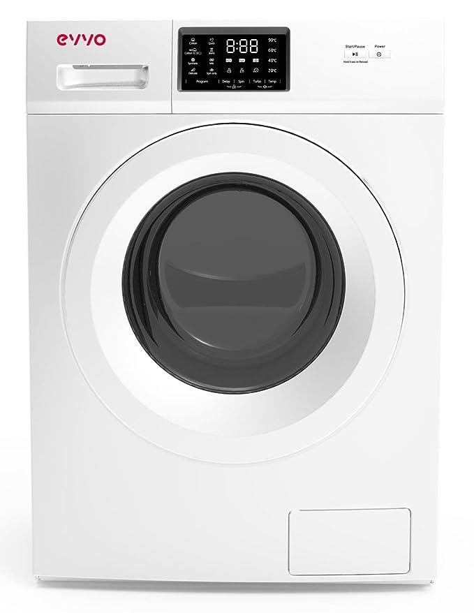 EVVO 2.7 - Modelo 2.7 Lavadora de Carga Frontal de 7 KG y 1400 RPM [Eficiencia Energética: A+++] - Marca Española - 4 años de Garantía - Color Blanco