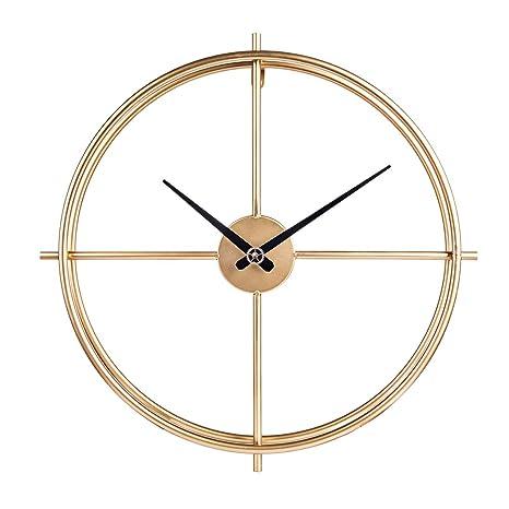 Yvsoo Reloj de Pared Vintage 50cm Reloj de Pared Silencioso Decoración Adorno para Hogar Salon Oficina