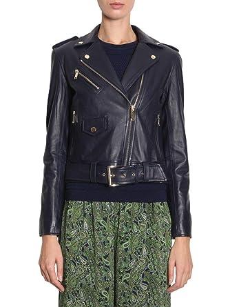 Michael By Michael Kors Giacca Outerwear Donna Mu81emz8fx456 Pelle Blu   Amazon.it  Abbigliamento 3518df72c58