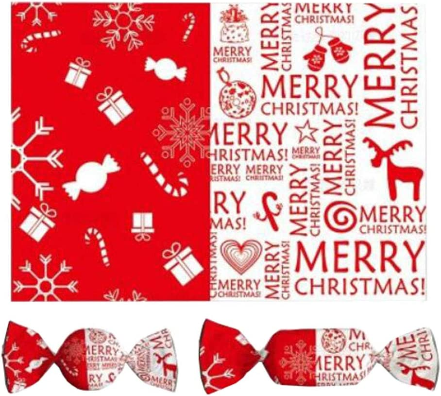 50 Sheets Xmas Wedding Sweets Candy Wrapping Paper Gift Wrap Tree Wax Paper