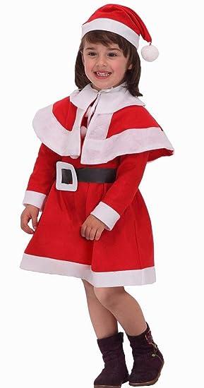 Atosa-69206 Disfraz Mamá Noel Niña Infantil, Color rojo, 3 a 4 años (69206