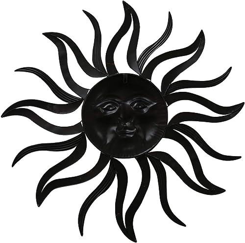 Benzara BM07981 Smiling Metal Sun Wall D cor