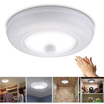Lámpara de techo LED con sensor de movimiento y batería ...