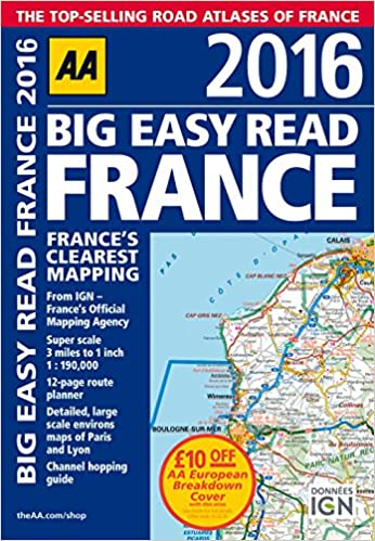 AA Big Easy Read France Road Atlas Big Easy Read Guides - Brazil large scale road map