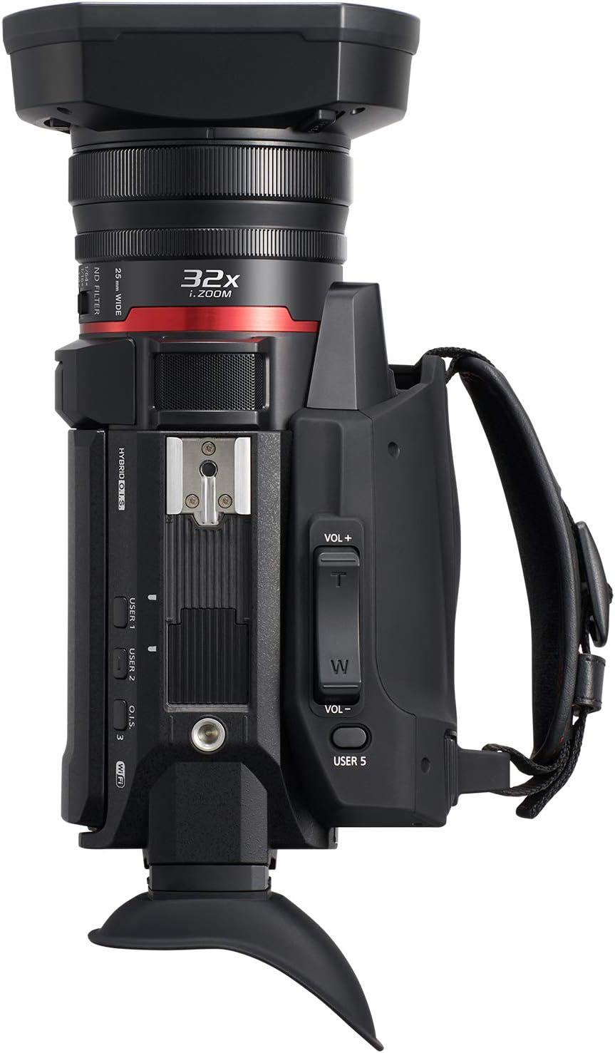 USA Black HC-X1500 WiFi HD Live Streaming Panasonic X1500 4K Professional Camcorder with 24X Optical Zoom