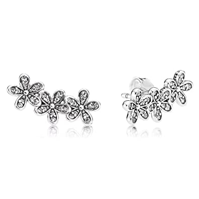 926842190 Stonebeads Dazzling Daisy Clusters Stud Earrings in 925 Sterling Silver:  Amazon.co.uk: Jewellery