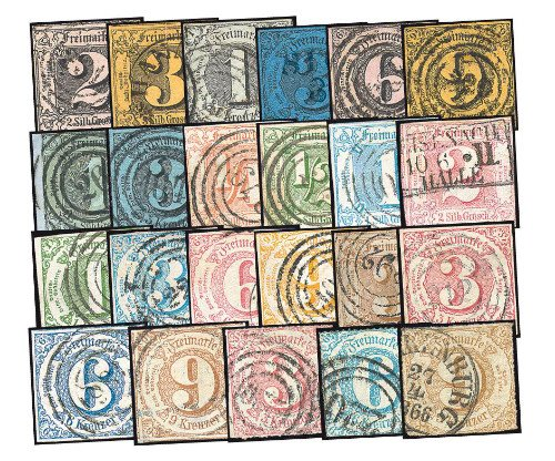 Goldhahn Thurn & Taxis gestempelt Briefmarken für Sammler