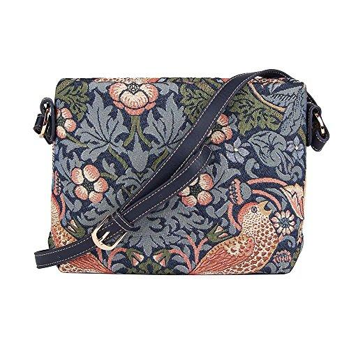 fresas de hombro Floral Bolso mano messenger de bandolera de bolso bolso Ladrón azul mujer para en tapiz moda Signare de qBxUwRt
