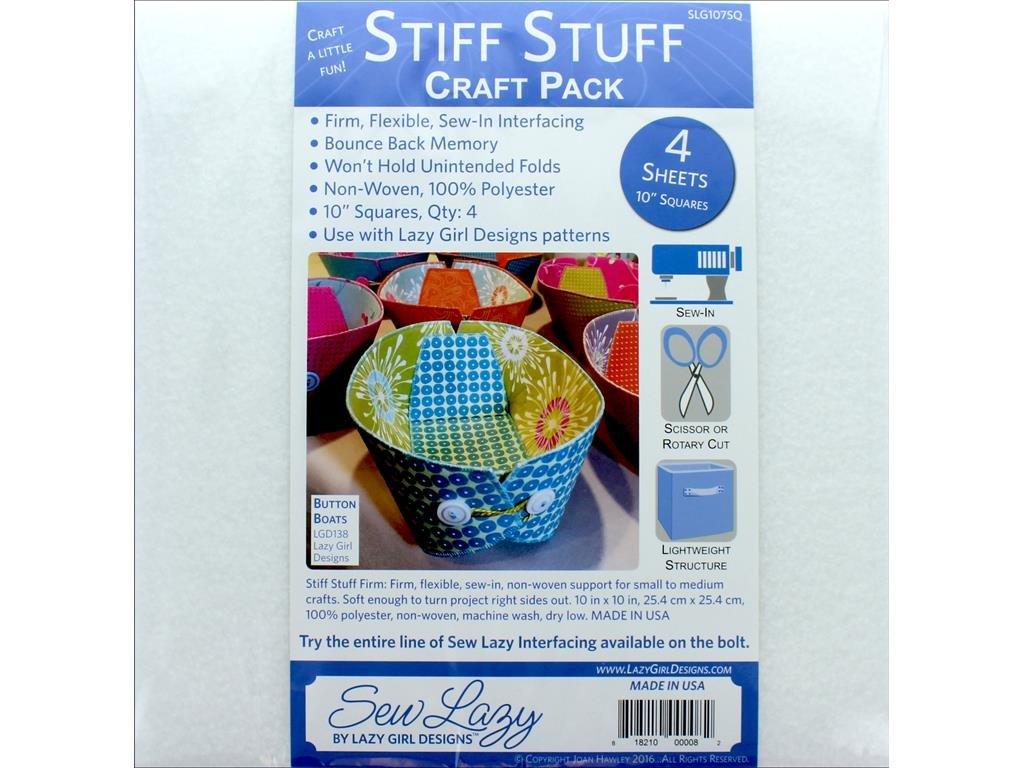 Lazy Girl Design Interfacing 4pc Stiff Stuff 10 Sq Craft Pk