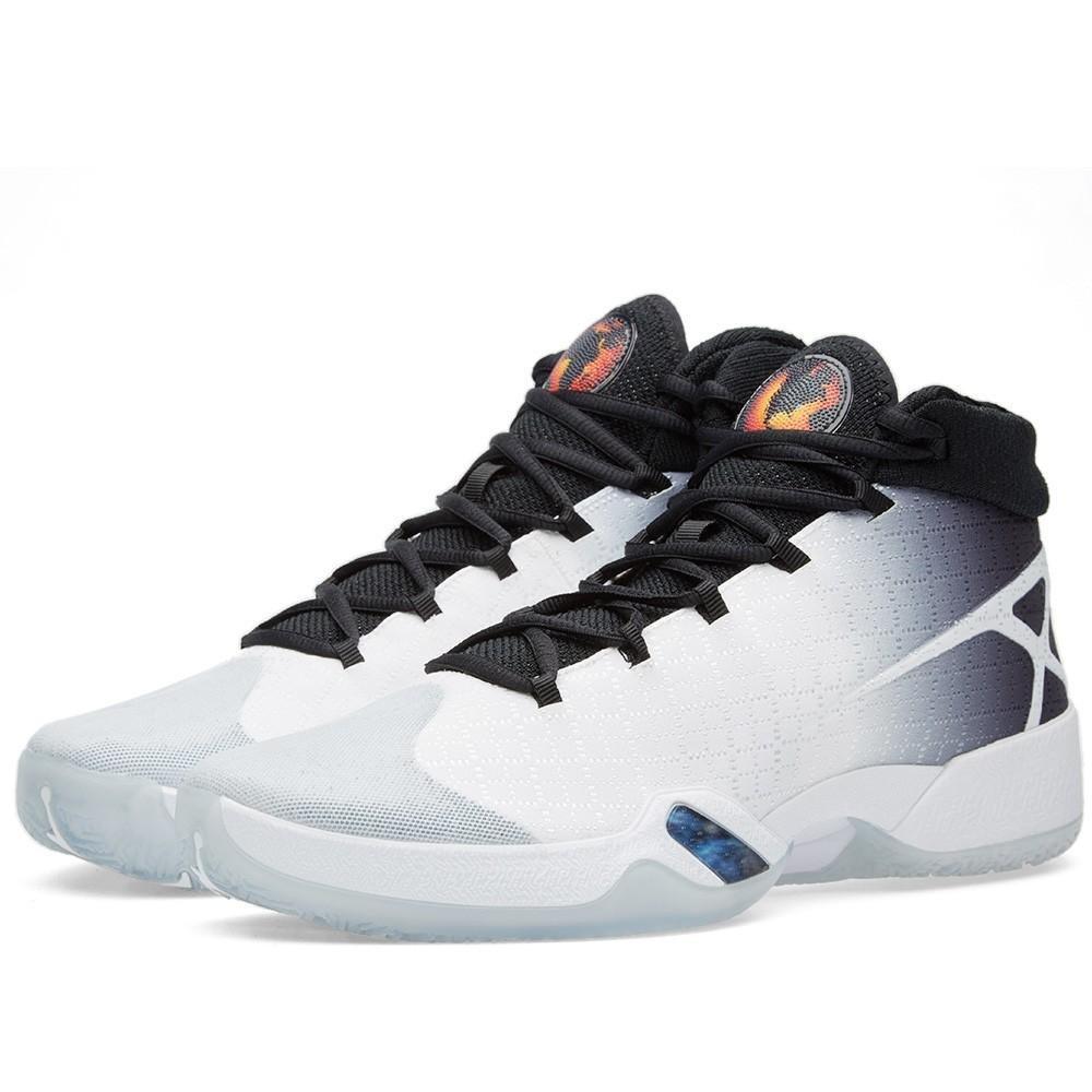 Nike Air Jordan XXX Gray Basketball Shoes (811006-101) Men's Size: 14 (14, White/Black-Wolf Grey)