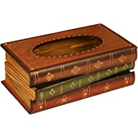 Tosnail–elegante de madera libro antiguo Tissue Holder Dispensador/novedad