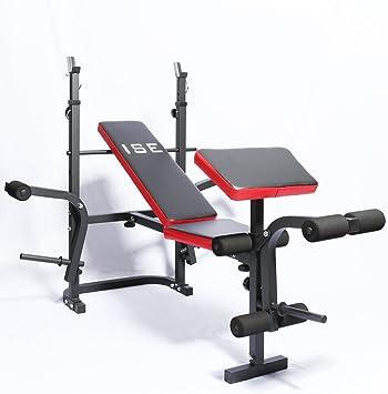 Banc dentra/înement Pliable Ejoyous Banc de Musculation Banc Multifonction Banc de Sit-ups 2 en 1 Chargeable jusqu/à 200 kg pour des Exercices complets Dossier r/églable Gym /à Domicile