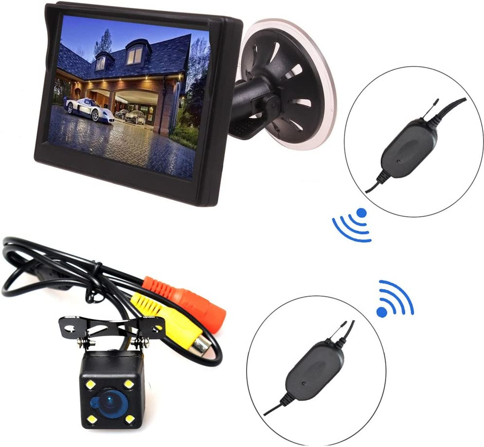 E-KYLIN Wireless Car Auto 5 inch HD Monitor LCD TFT Backup Camera Reverse Parking Kit LED Night Vision CCTV Safety Surveillance