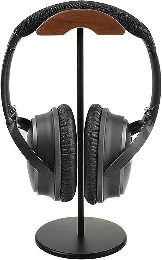 حامل سماعة رأس خشبي - حامل سماعات أذن كامبرة، ملحق شماعات سماعة الجوز متوافق مع لوجيتيك رازر شور للألعاب لسماعة الرأس لعرض تنظيم سطح المكتب