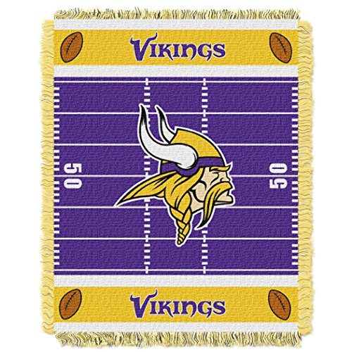 Vikings OFFICIAL National Football League, Field Baby 36 x 46 Triple Woven Jacquard Throw by Northwest Official