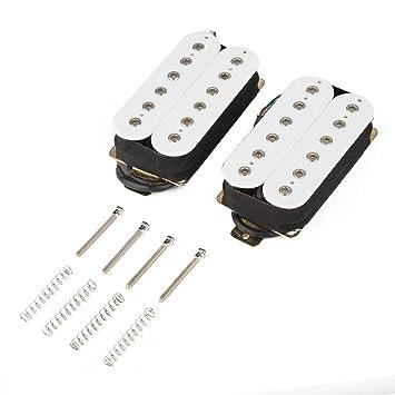 Dilwe Pastilla de Guitarra Eléctrica, Puente de Guitarra & Cuello Humbucker Pastilla Set con Tornillos