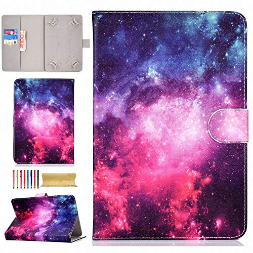 9.5-10.5 Inch Tablet Universal Case, UGOcase Stand Folio Slim Wallet Case Cover for iPad 9.7, Samsung Galaxy Tab, LG, RCA, HP, Dragon Touch, ASUS, iRulu, F i r e 10, and More 10
