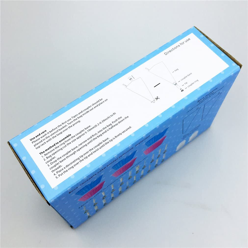 MKNZONE 1 Set di ugelli per Tubi in Acciaio Inossidabile Set di Punte per Decorazione di Torte