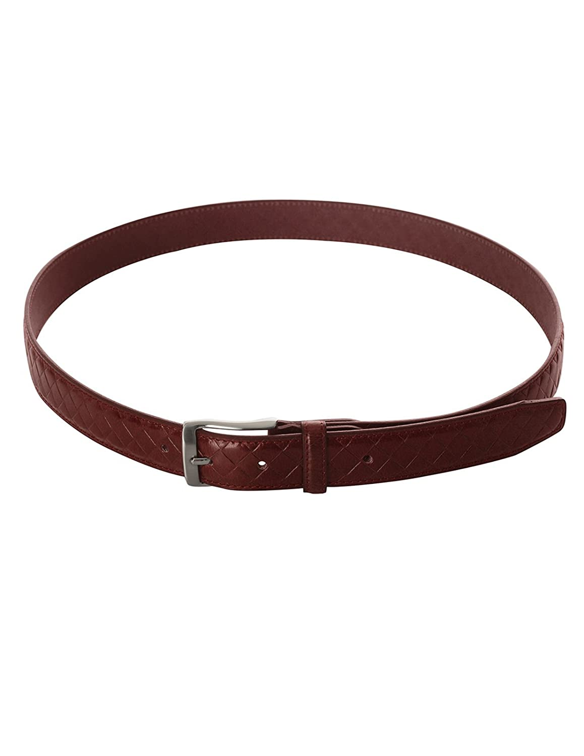 FLATSEVEN Mens Casual Genuine Leather Braided Belt