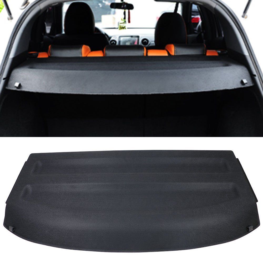 Cargo Cover Fits 2016-2018 Honda HRV | Unpainted Black ABS HR-V Rear Cargo Tonneau by IKON MOTORSPORTS | 2017