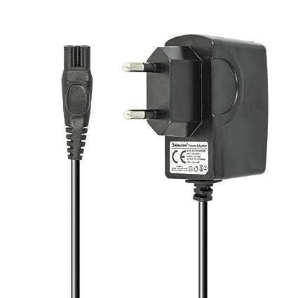 Batería de King 220 V Cargador Cable de Carga 7.5 W (15 V/0.5 A) para afeitadora Philips la HQ de 1,2 m, HS de, RQ de, AT, PT de Serie, Philips ...