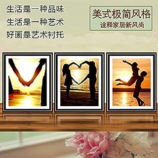 Sykdybz 5D Diamond Painting Living Room New Diamond Show Magic Cube Drill Cross Stitch Full Drill Sticking Point Drill Modern Simple Decorative Painting Love Life,50X40Cmx3