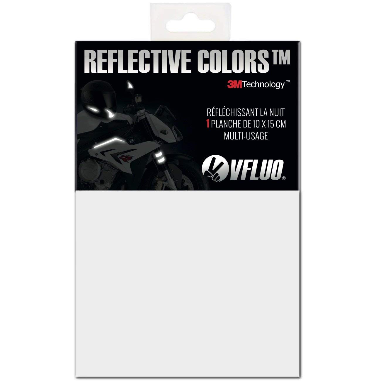 f3e9b21b Amazon.com: VFLUO 3M REFLECTIVE COLORS™, Universal adhesive DIY kit for  Helmet/Motorcycle / Scooter/Bike, 3M Technology™, 10 x 15 cm sheet, White/ Silver: ...