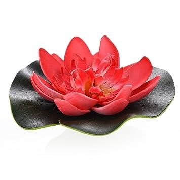 yunt Artificial simulación de flor de loto adorno decoración para acuario tanque de peces: Amazon.es: Productos para mascotas