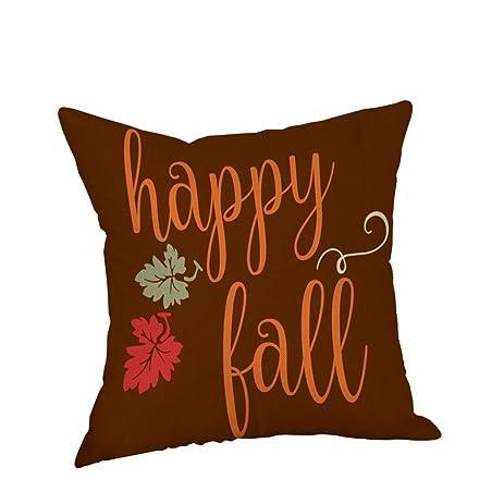 AmyDong Happy Halloween Pillow Cases Linen Sofa Cushion Cover Home Decor