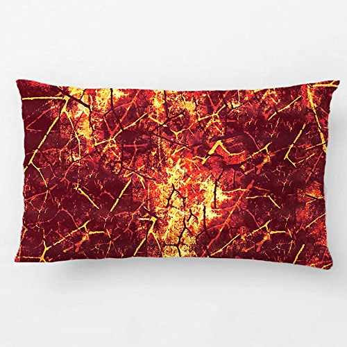ALEX Throw Pillow Case Decorative Cushion Cover Cotton Polyester Sofa Chair Seat Rectangle Pillowcase Design With Rusty Colored Crackle Lacquer Grunge Texture Custom Pillow Cover Sized 12X20 Inches (Car Seat Covers The Beatles compare prices)