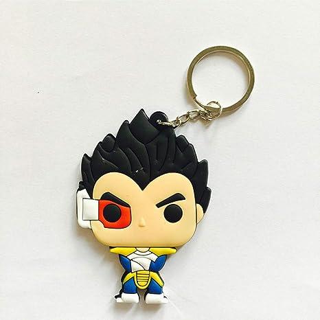 Anime Dragon Ball Llavero PVC Silicona Goku Vegeta Llavero ...